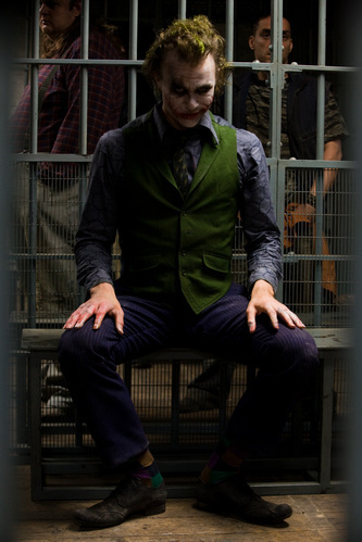 the joker behind bars