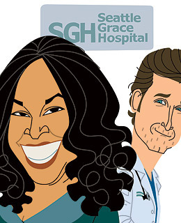 A Cartoon of Shonda and Derek