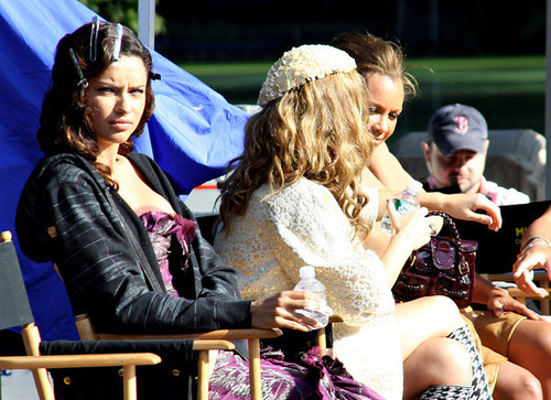 Adriana Lima on set of Ugly Betty