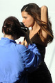 Adriana Lima on set of Ugly Betty