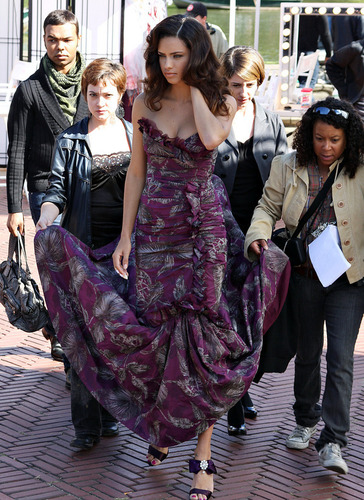Adriana on set of Ugly Betty