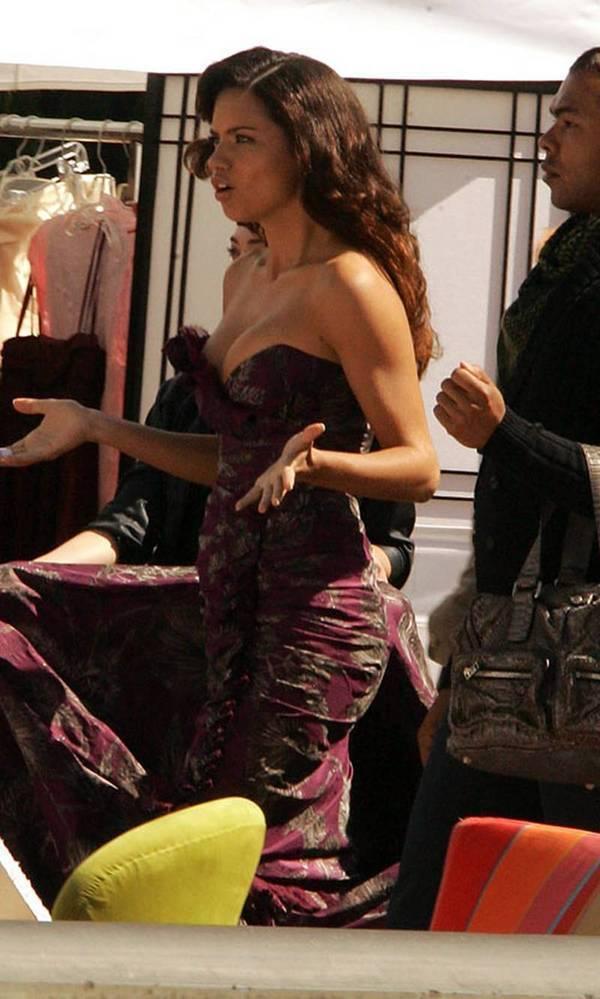Adriana on set of Ugly Betty