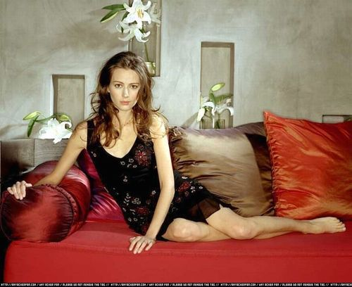 Amy Acker achtergrond probably containing a couch, a living room, and a bedroom entitled Amy