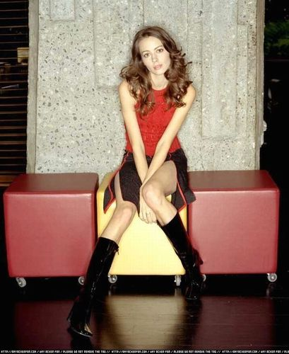 Amy Acker achtergrond probably with tights and a leotard called Amy