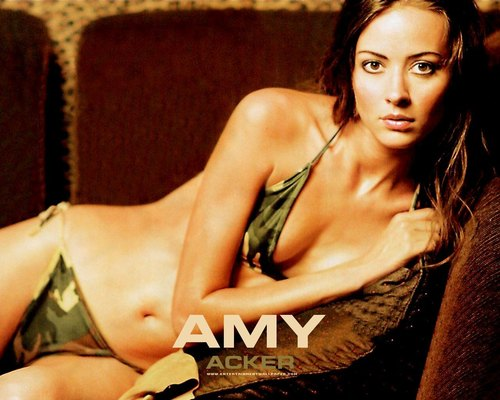 Amy Acker achtergrond with a bikini and a zwempak, badpak entitled Amy