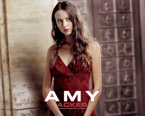 Amy Acker achtergrond possibly containing a cocktail dress titled Amy