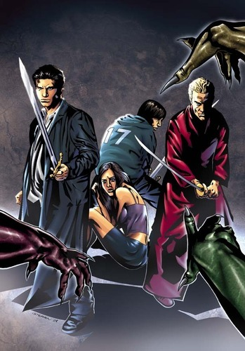 Buffyverse Comics achtergrond called Angel After the Fall