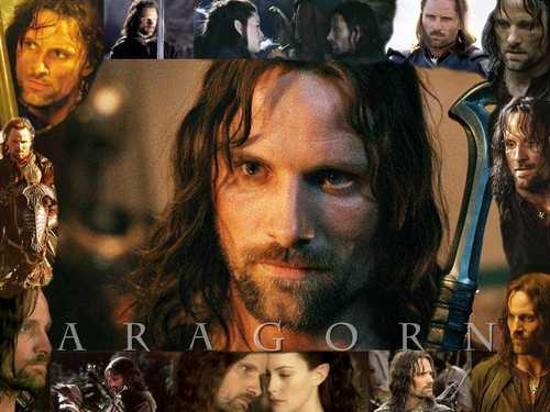 Lord of the Rings wallpaper probably containing a portrait titled Aragorn