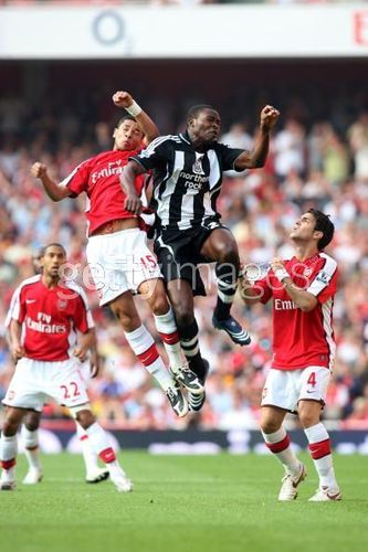 Cesc Fabregas 바탕화면 containing a fullback, a 축구 player, and a running back titled Arsenal vs. Newcastle United, Aug 31 2008