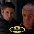 Batmen! Spike and Dean - multi-fandom fan art