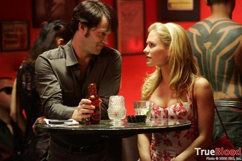 Bill and Sookie wallpaper probably containing a brasserie, a dinner table, and a bistro entitled Bill and Sookie