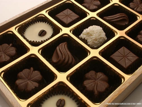 Chocolate wallpaper called Box of Chocolate Candy