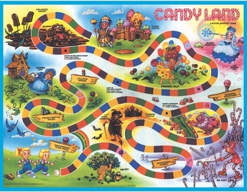 Candy Land strand Towel