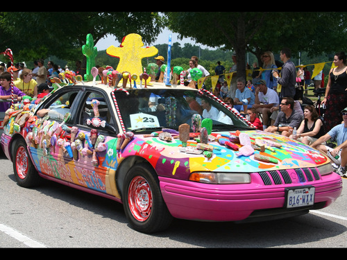 Candy Land Car Wallpaper