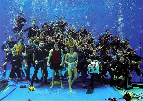 Cedric underwater