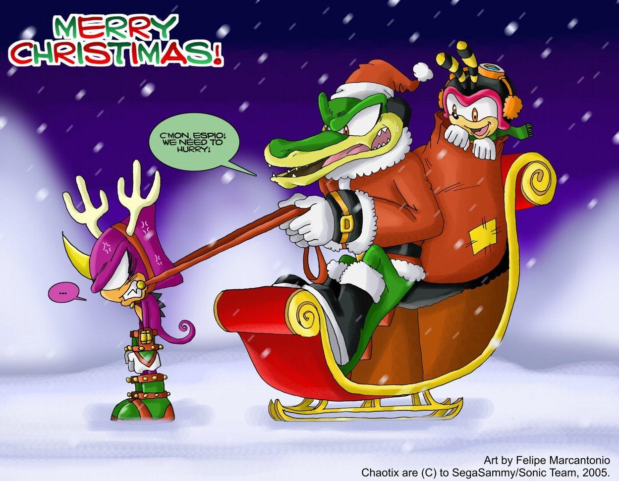 SONIC Weihnachten Bilder Come on Espio! HD Hintergrund and ...