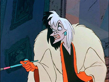 Disney Villains karatasi la kupamba ukuta containing anime called Cruella de Vil