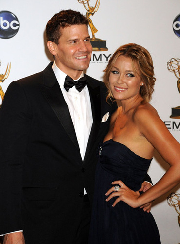 David Boreanaz and Lauren Conrad  - bones Photo