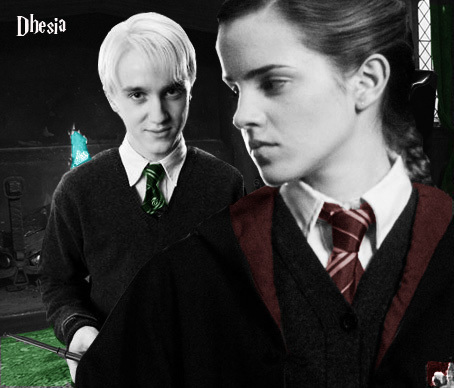 Dramione wallpaper containing a business suit called Dramione
