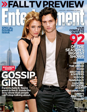EW September 2008 Cover: Dan and Serena