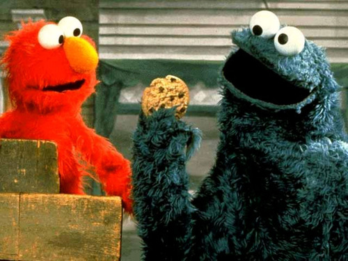 Elmo & Cookie Monster - elmo Wallpaper