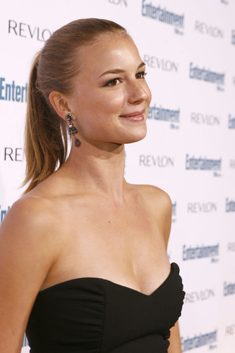 Emily VanCamp wallpaper with a portrait entitled Emily at EW's Pre-Emmy party