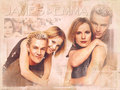 Emma Caulfield & James Marsters - btvs-behind-the-scene wallpaper