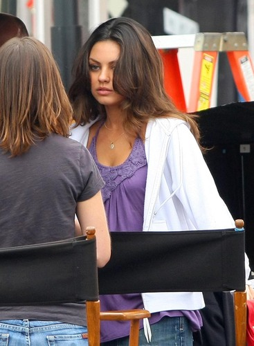 Extract - Mila Kunis Set photos