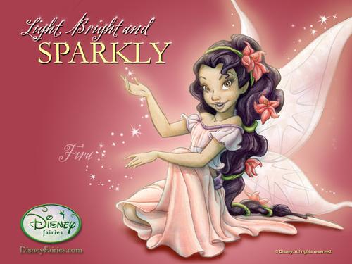 Disney Fairies پیپر وال probably containing عملی حکمت entitled Disney Fairies Fira پیپر وال