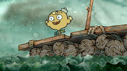 Flapjack floats to Candy Island