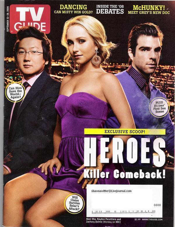 Hayden - TV Guide 2008 Photoshoot