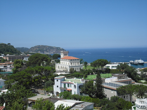 Italy Hintergrund containing a business district, a resort, and a villa entitled Ischia