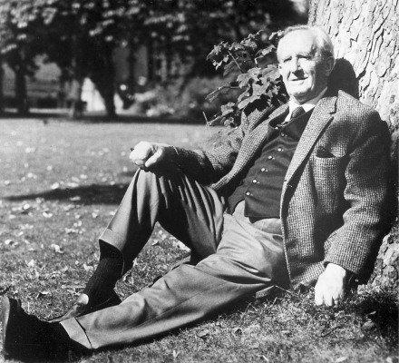 J.R.R. Tolkien wallpaper containing a park bench entitled John Ronald Reuel Tolkien