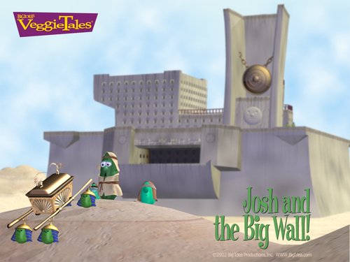 Veggie Tales wallpaper titled Josh and the big wall