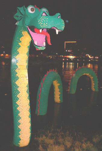 Loch Ness Monster Обои probably containing a улица, уличный called Lego Nessie
