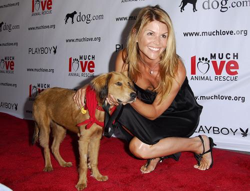 Lori with a cute dog