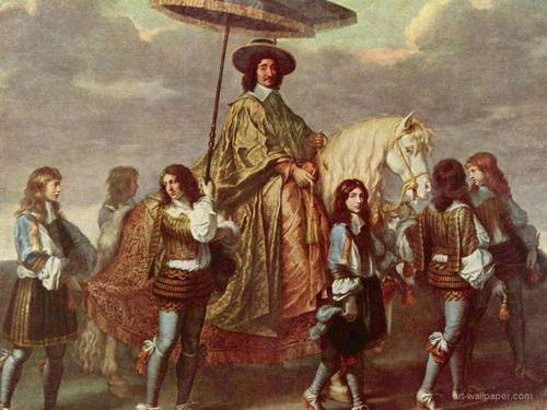 Kings and Queens wallpaper called King Louis XIV in Paris