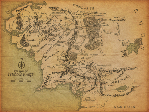 lord of the rings wallpaper titled Map of Middle Earth