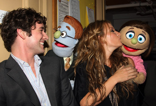Michael & Becki visit the cast of Avenue Q