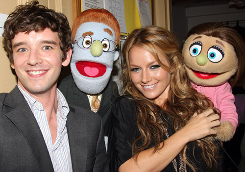 Ugly Betty wallpaper called Michael & Becki visit the cast of Avenue Q