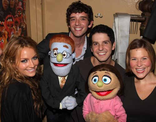 Michael & Becki visit the cast of Avenue Q - ugly-betty Photo