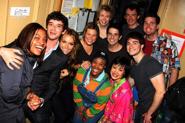 Michael & Becki visit the cast of Avenue Q