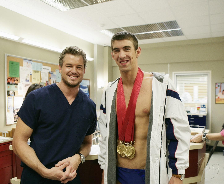 Michael Phelps and Eric Dane