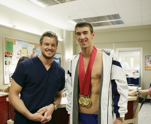 Michael Phelps and Eric Dane - greys-anatomy Photo