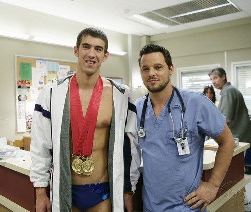 Michael Phelps and Justin Chambers