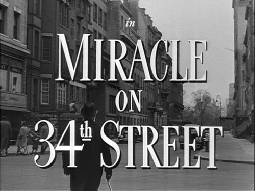 Christmas Movies wallpaper titled Miracle On 34th Street movie title screen