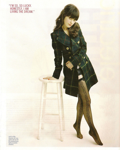 Zooey Deschanel wallpaper called Nylon magazine scans