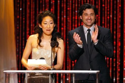 Patrick and Sandra presenting at the Emmy's