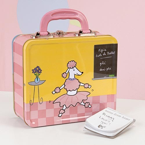 rosado, rosa Poodle Lunch Box