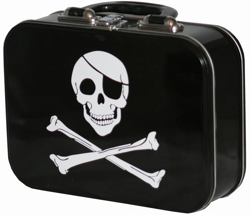 Pirate Skull and Crossbones Lunch Box